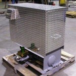 This is a single blower package enclosed in aluminum diamond plate.
