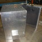 Aluminum diamond plate split cabinet