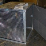 Aluminum diamond plate unit for vacuum package