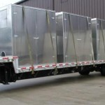 Typically we ship sound enclosures assembled on a flatbed truck